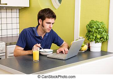Kitchen Computer Work