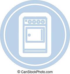 kitchen cooker circular icon symbol