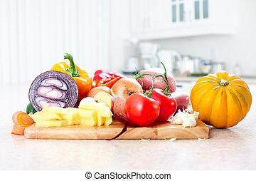 Kitchen. Cooking - Kitchen, cooking, potato, knife, cutting ...