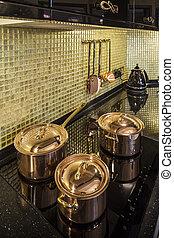 kitchen copper utensils