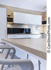 Kitchen cupboards in modern style