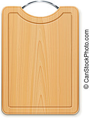 kitchen cutting board with handle vector illustration...