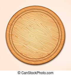 Kitchen cutting board Wood texture board illustration -...