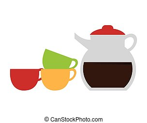 Kitchen design. - Kitchen design over white background,...