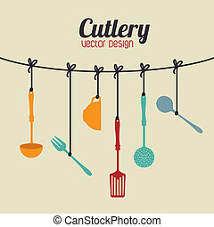 kitchen design over beige  background vector illustration