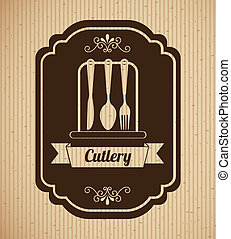 kitchen design over lineal background vector illustration