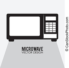 Kitchen design over white background, vector illustration