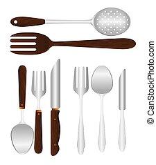 Kitchen design, vector illustration. - Kitchen design over ...