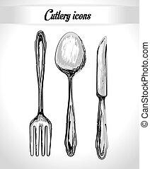 Kitchen design, vector illustration. - Kitchen design over...