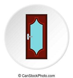 Kitchen door icon, flat style