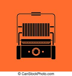 Kitchen electric grill icon