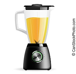 Kitchen electric stationary blender with a glass bowl. Cooking smoothies, cocktail or juice.