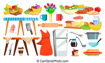 Kitchen Equipment Icon Vector. Kitchenware. Food Cooking Tools. Appliances. Isolated Cartoon Illustration