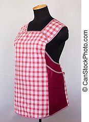 Kitchen female apron on mannequin