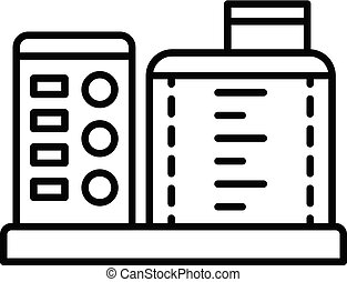 Kitchen food processor icon, outline style