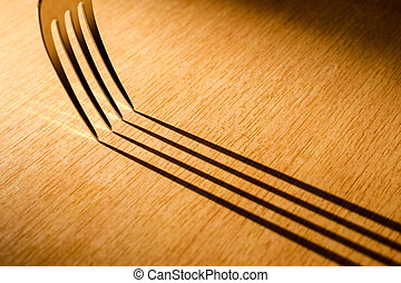 Kitchen Fork and Shadow