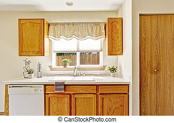 Kitchen furniture with window view