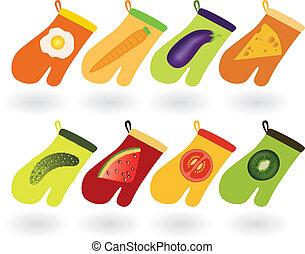 kitchen gloves - set of kitchen gloves