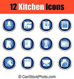 Kitchen icon set.