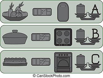 Kitchen icons for usually food