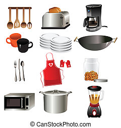 Kitchen icons - A vector illustration of kitchen icon sets