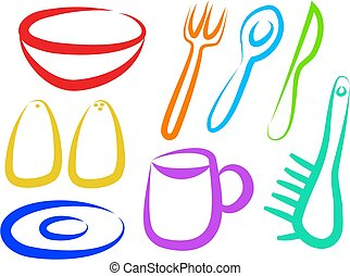 Kitchen Icons - kitchen symbols