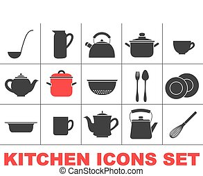 Kitchen icons set.