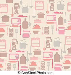kitchen icons over white background. vector illustration