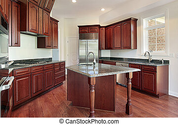 Kitchen in cherry wood
