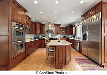 Kitchen in comtemporary home