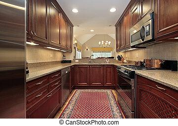 Kitchen in condominium