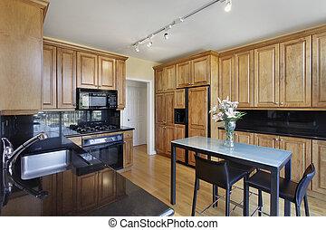 Kitchen in condominium unit