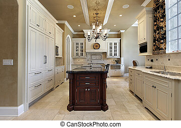 Kitchen in luxury home