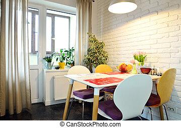 Kitchen in Scandinavian style