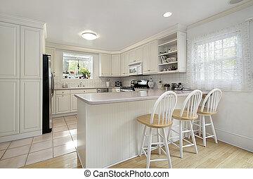 Kitchen in suburban home