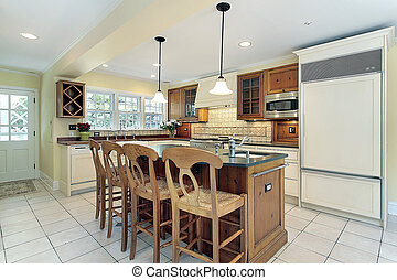 Kitchen in suburban home