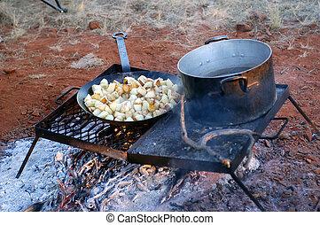 Kitchen in the Australian bush