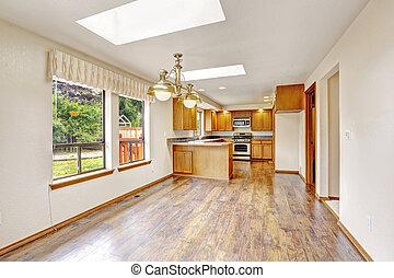 Kitchen interior in empty house