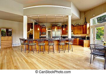 Kitchen interior in luxury house. Real estate in WA -...