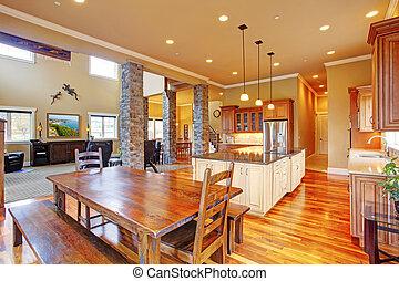 Kitchen interior in luxury house
