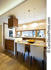 Kitchen interior in modern house