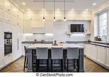 Kitchen interior in new luxury home