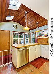 Kitchen interior in old house