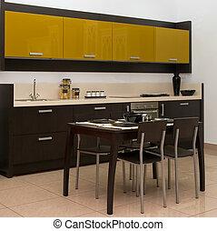 kitchen interior - View of a modern kitchen interior