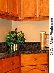 Kitchen interior - Modern kitchen interior with natural...