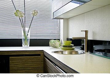 kitchen interior with jalousie