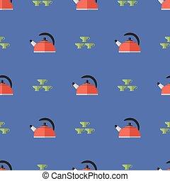 Kitchen Kettle Seamless Pattern