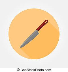 Kitchen knife icon.