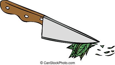 Kitchen Knife Isolated Vector