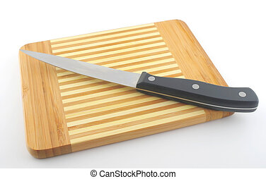 Kitchen-knife on the preparation board